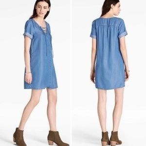 2ce0b2953b DenimDress NWT Style Co Off the Shoulder Dress Sz XL Chambray